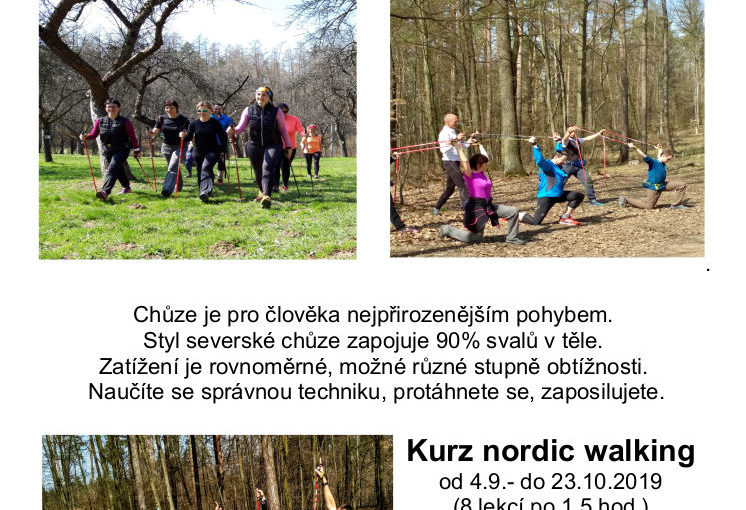 Kurz Nordic Walking 4-23.10.2019