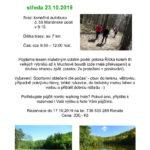 Nordic walking výšlap do Mariánského údolí - 23.10.2019