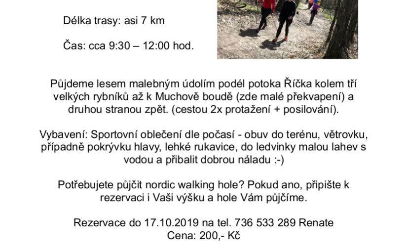 Nordic walking výšlap do Mariánského údolí – 23.10.2019