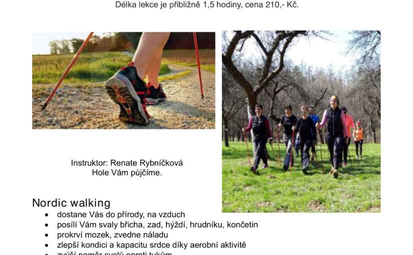 Lekce NORDIC WALKING<br /> od 9.9.20 a 10.9.20