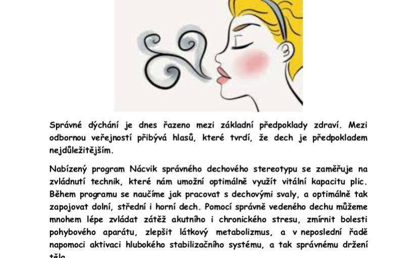 Správné dýchání a dechová cvičení<br /> od 13.10.2020